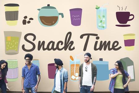 snack time: Snack Time Chip Cracker Crisps Crunchy Fried Concept