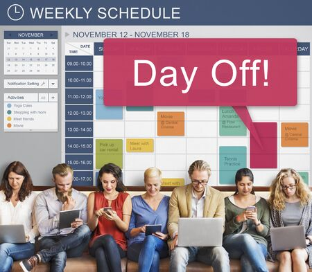 free time: Day Off Free Time Holiday Vacation Benefit Concept