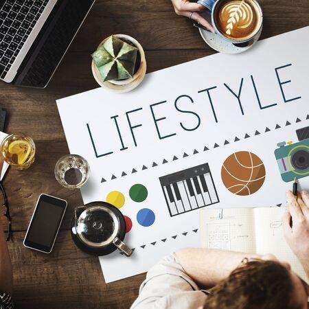 hobbies: Lifestyle Culture Habits Hobbies Interests Life Concept