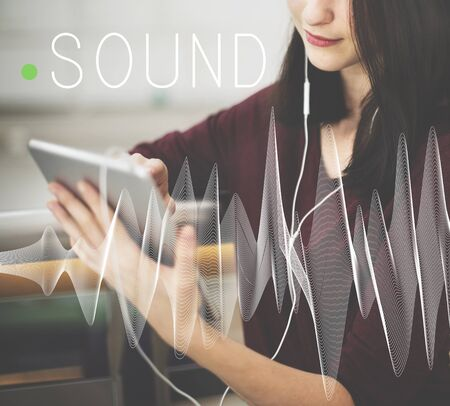 reproduced: Sound Music Wave Melody Graphic Concept