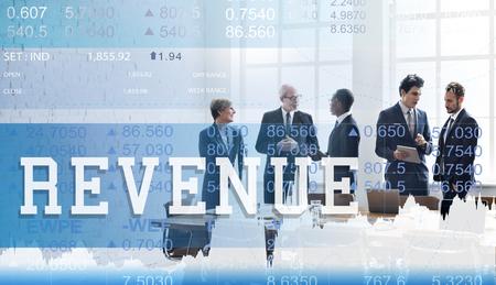 Busienss team with revenue concept 版權商用圖片