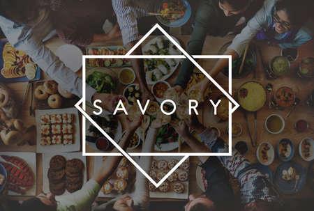 Tasty Yammy Savory Food Meal Concept Reklamní fotografie