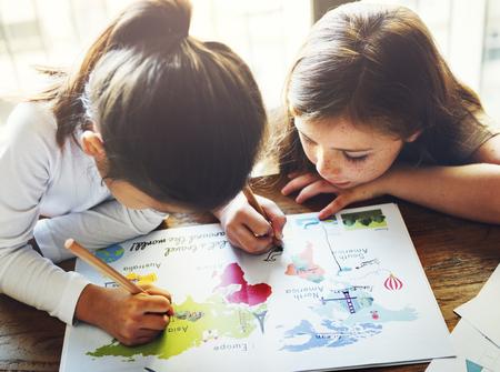 visualise: Drawing Friendship Ideas Imagination Creative Concept