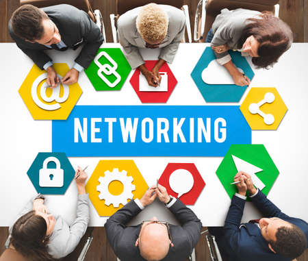 diversity domain: Networking Network Internet Connection Concept Stock Photo