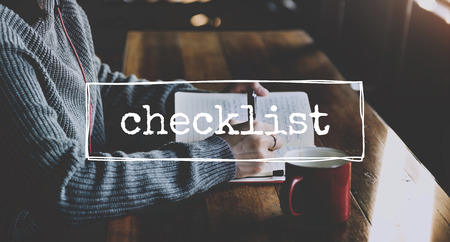 recordar: Lista de verificación Aviso Recuerde planificación concepto del Plan