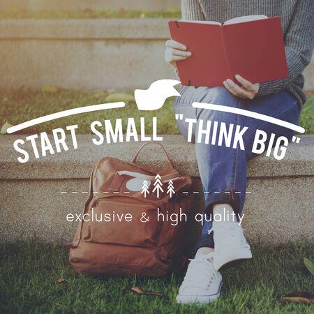 think big: Think Big Attitude Faith Inspiration Possible Concept