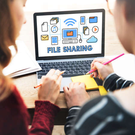 file sharing: file Sharing Technology Data Transfer Concept