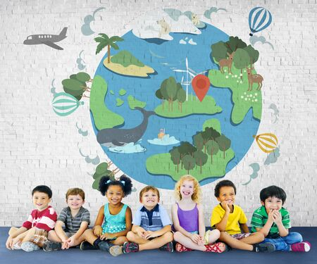 child care: Earth Life Global Nature Animals Concept Stock Photo