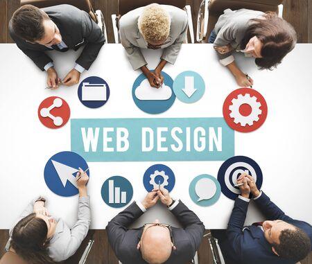 web development: Web Page Design Development Graphic Concept