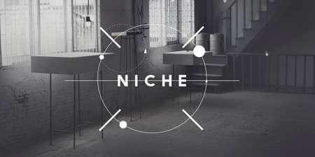 consumer: Niche Consumer Speciality Target Branding Area Concept Stock Photo