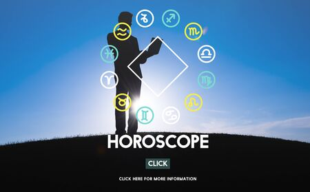astral: Horoscope Astral Calendar Future Prediction Signs Concept Stock Photo