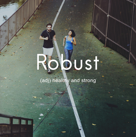 robust: Robust Healthy And Strong People Graphic Concept