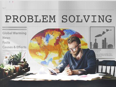 strategic focus: Problem Solving Method Process Solution Plan Concept