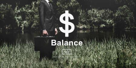 financial concept: Balance Liability Finance Financial Concept