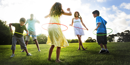 togetherness: Whole Family  Outdoors Togetherness Concept Stock Photo