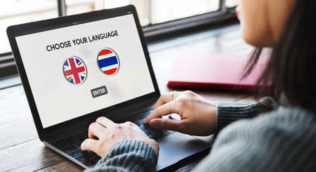 dialect: Thai English Language Communication Global Concept Stock Photo