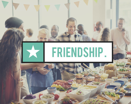 friendliness: Amistad Conexión relación juntos Concept