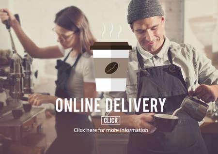 negocios comida: Menu Online Delivery Coffee Shop Concept