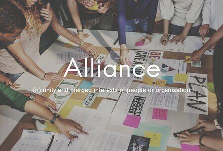 alliance: Alliance Team Combine Corporate Partnership Concept