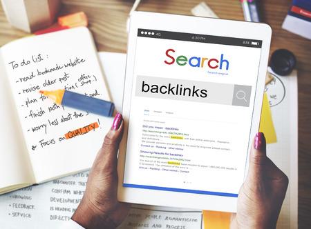 backlinks: Backlinks Hyperlink Inbound Links Network Internet Concept