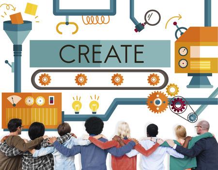 Create Innovation Imagination Development Ideas Concept Stock Photo