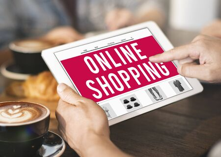 buying: Online Shopping Retail Buying Concept Stock Photo
