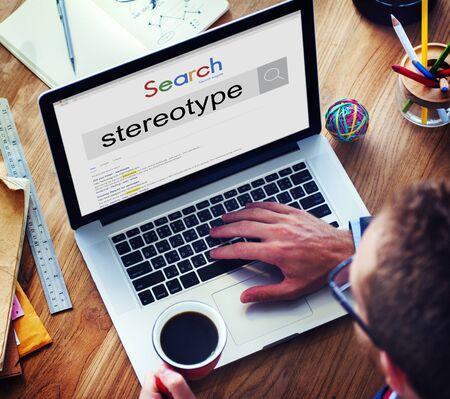 estereotipo: Stereotype Belief Bias Prejudice Discrimination Perception Concept Foto de archivo