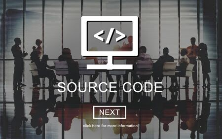 open source: Source Code System PHP Open Source Concept Stock Photo
