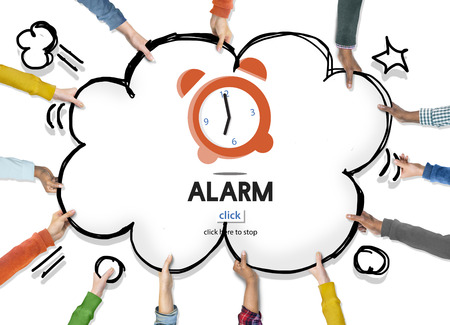 wake up: Alarm Clock Wake Up Morning Concept Stock Photo