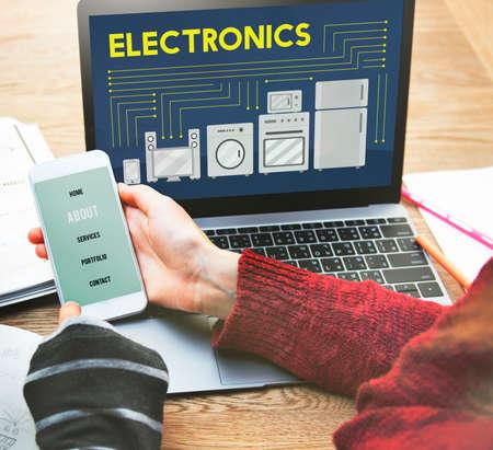 contemporary: Electronics Capacitor Contemporary Technology Concept
