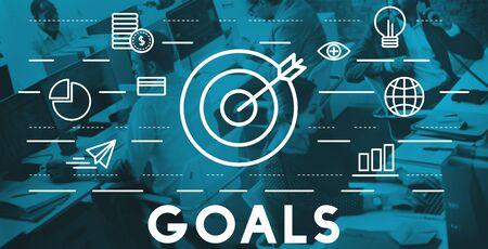 bull's eye: Bulls Eye Goal Mission Icon Graphics Concept Stock Photo