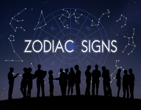 astral: Zodiac Signs Astral Astrological Birth Calendar Concept