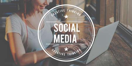 socialize: Social Media Network Socialize Communication Concept
