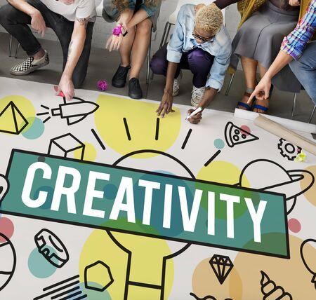 skills diversity: Creative Creativity Inspire Ideas Innovation Concept Stock Photo
