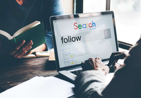 Follow Followers Following Share Sharing Social Concept Stock Photo