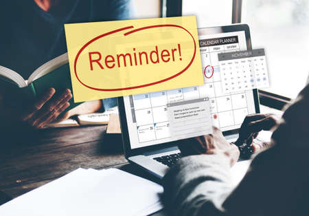 notice: Reminder Important Memo Memory Notice Text Concept Stock Photo
