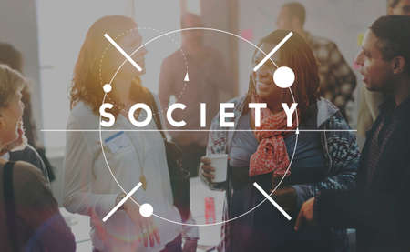 socialize: Society Socialize Community Connection Group Concept