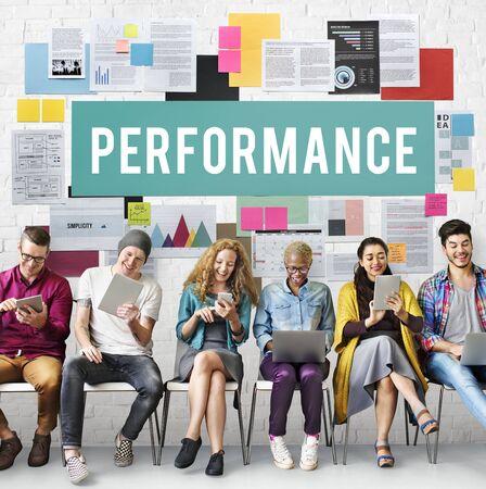 skills diversity: Performance Efficiency Implementation Inspiration Concept Stock Photo