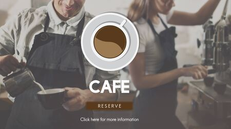 small business woman: Cafe Coffee Coffee Shop Drink Concept Stock Photo