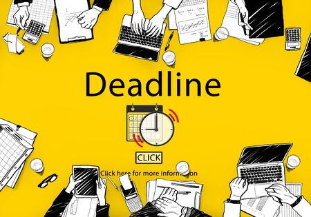 the place is important: Deadline Target Notice Important Schedule Concept