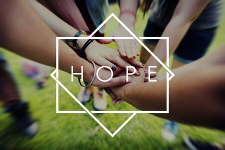 church people: Hope Belief Believe Imagine Praying Trust Tempel Concept Stock Photo