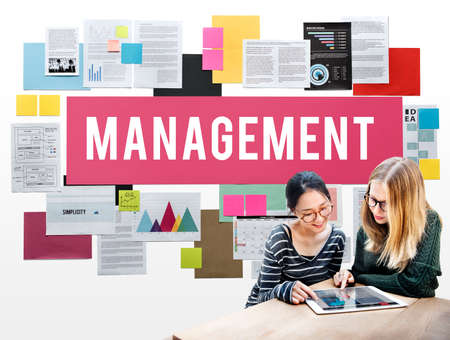 business roles: Management Mentor Organization Strategy Roles Concept Stock Photo