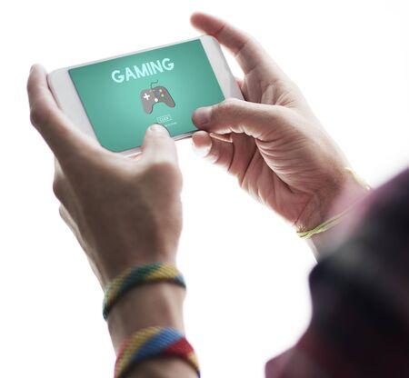 Gaming Entertainment Fun Hobby Digital Technology Concept Imagens
