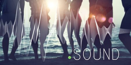 melody: Sound Music Wave Melody Graphic Concept