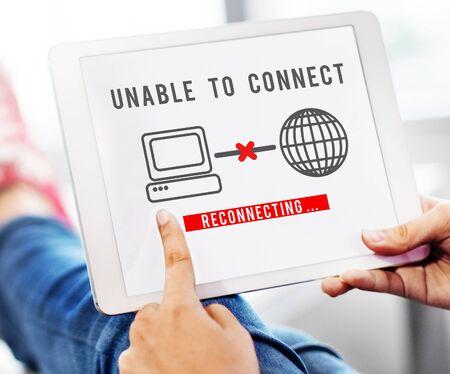 discontinued: Unable Connect Disconnect Error Failure Problem Concept
