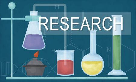 Projet de recherche sur la science des connaissances Innovate Experience Intelligence Banque d'images