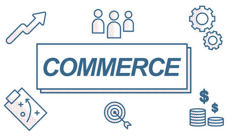 selling service: Commerce Business Network Exchange Graphic Concept