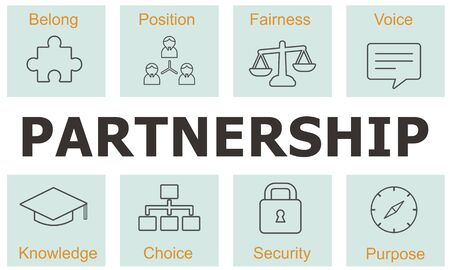 ethnics: Business Cooperation Strategy Successful Company Concept