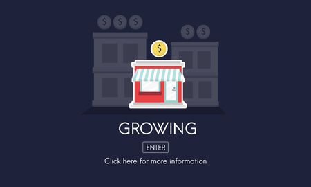 growing partnership: Growing Launch Startup New Business Concept Stock Photo