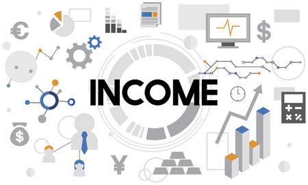 inkomen Activa Banking Capital Finance Geldconcept